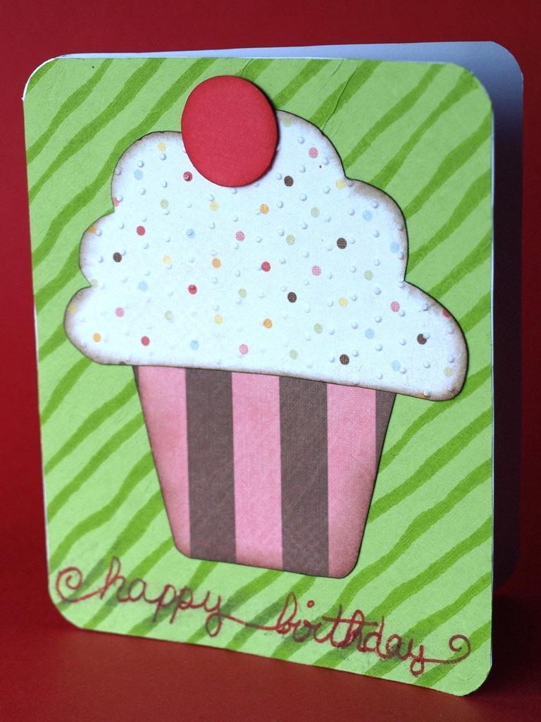 Tarjeta de cumpleaños - Cupcake II