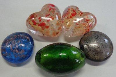 5 Perle in Vetro Assortite