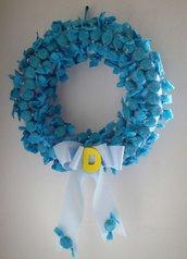 Fiocco nascita - Ghirlanda nascita con caramelle