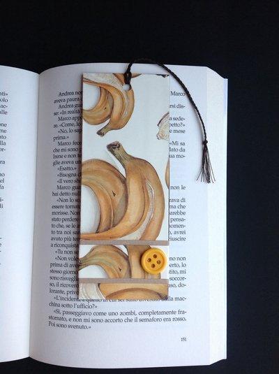 Segnalibro di carta con banane