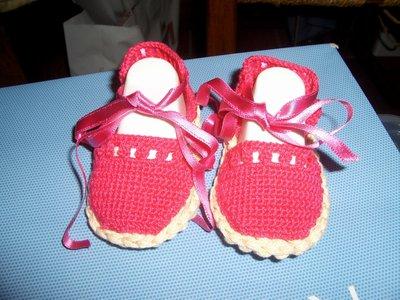 Scarpe sandali neonata uncinetto