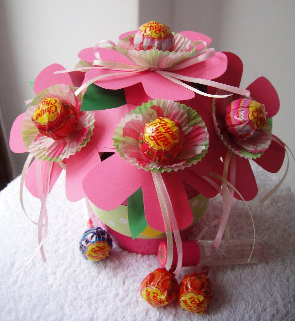 "Dolce Bouquet  ""E' nata una mamma"" – Lollipop bouquet - Idea regalo nascita"
