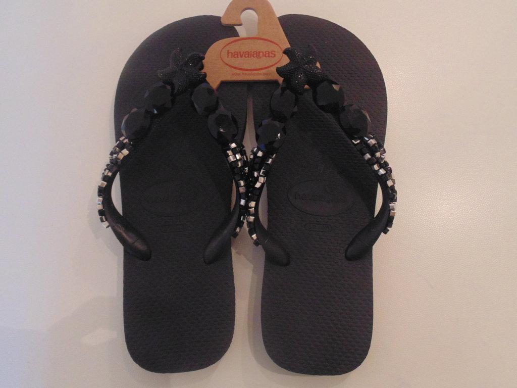 Havaianas flip flops ricamata n.39-40 Nero