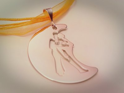 Collana girasole tango Agarrame oro bianco