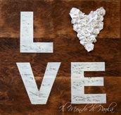 """Quadro in legno """"LOVE"""""""