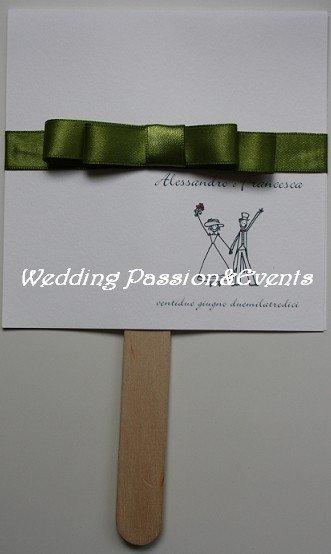 Ventagli cerimonia personalizzati