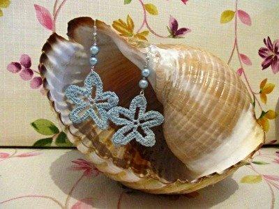 orecchini stelle marine celesti