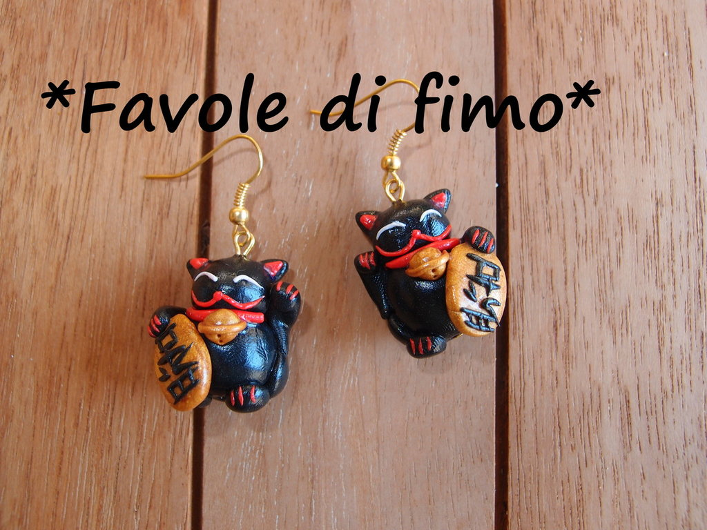 orecchini maneki neko japan gatti portafortuna