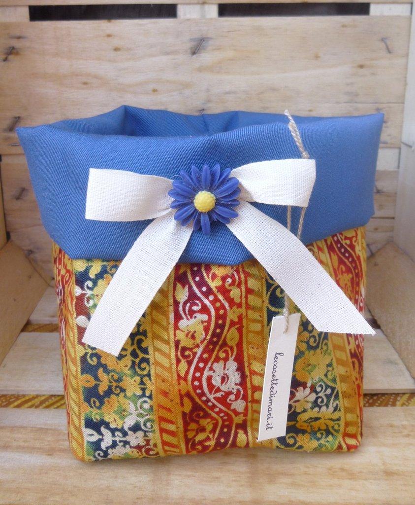 Cestini porta tutto fatti a mano in stoffa per la casa - Porta gioielli fatti in casa ...