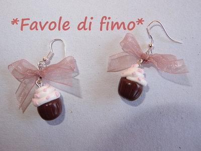 orecchini cupcake fimo dolcini