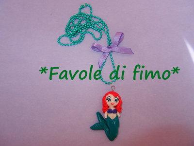 collana Ariel la sirenetta fimo handmade