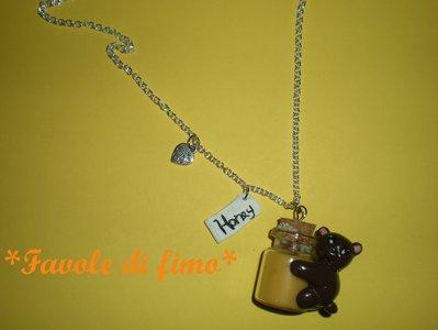 collana orsetto miele fimo