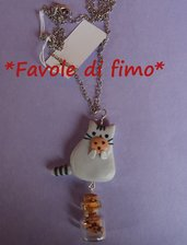 collana pusheen cat fimo