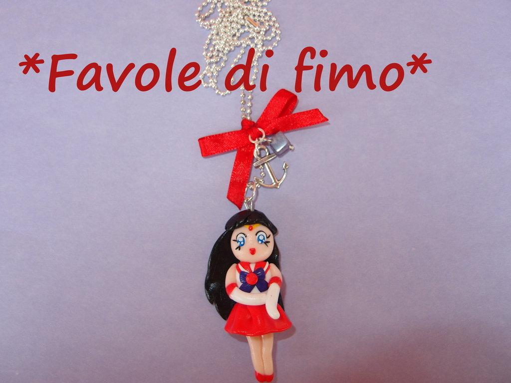 collana sailor mars fimo