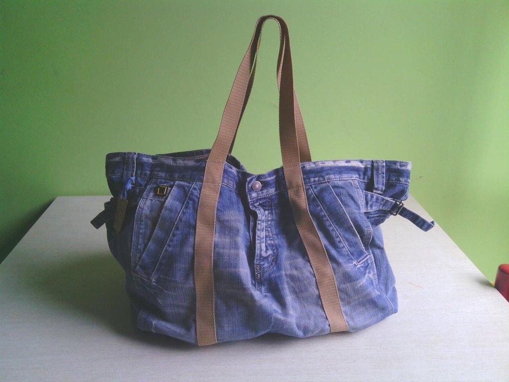 codice promozionale f77b2 f48ad borsa in jeans fatta a mano B002
