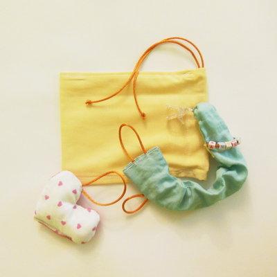 Catenella portaciuccio con sacchetto: un'idea regalo per una nascita, un battesimo, un 1° compleanno!