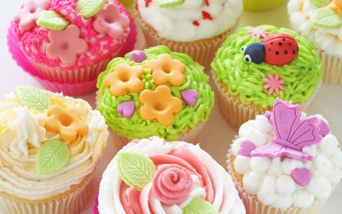 Cupcakes primaverili