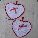 Presine cuore (rosse)