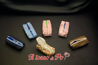 Portafazzolettini in stoffa, porta cleenex, porta fazzoletti