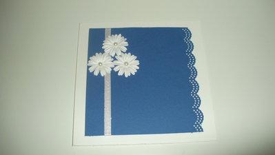 Partecipazione blu elegante