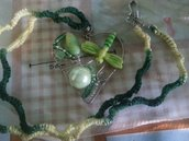 Collana con ciondolo cuore wire