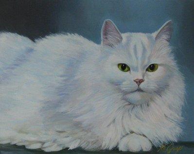 Dipinto:Ritratto della Gatta Lulù