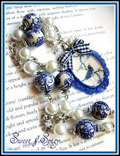 BLUE DELIGHT CAMMEO NECKLACE