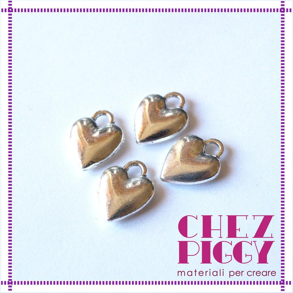 1 x charm ciondolo a cuore - argento