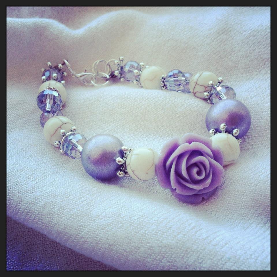 Bracciale Rosa e perle