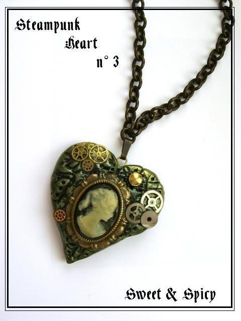STEAMPUNK HEART NECKLACE-PENDENTE STEAMPUNK-VITTORIANO