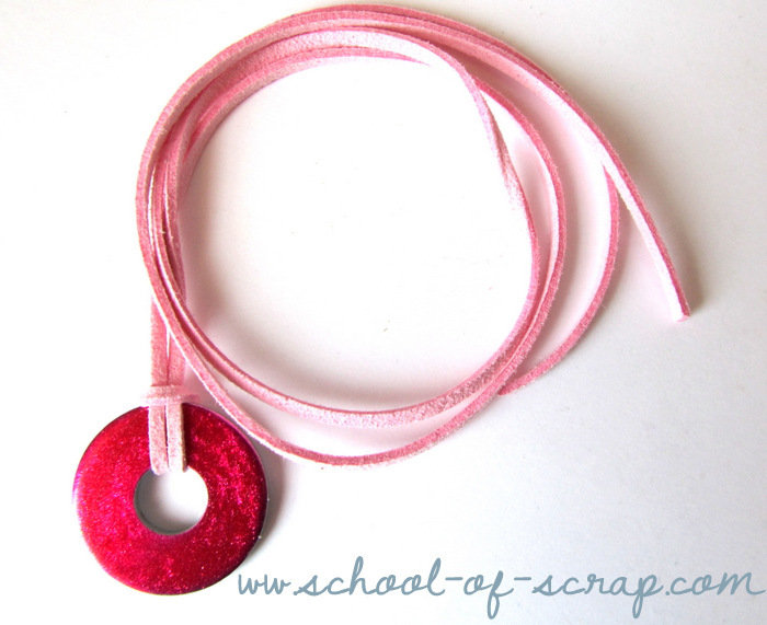 Collana ciondolo rosa shocking e rosa chiaro - collezione HARDWARE di TRAMONTANA