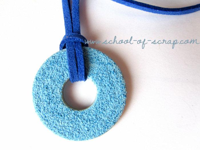 Collana ciondolo azzurro e cordoncino blu - collezione HARDWARE di Tramontana Uniquely Couture