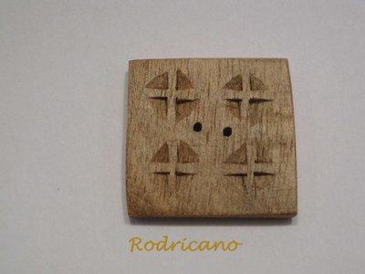 Boton cuadrado cruces