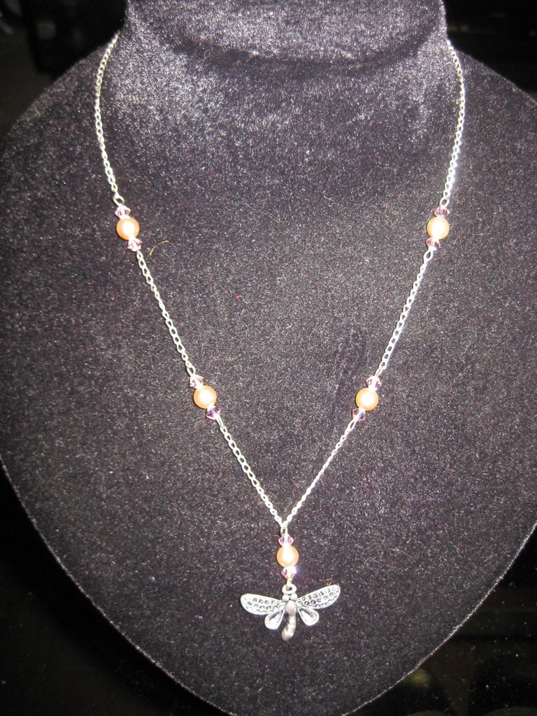 Collana libellula perle