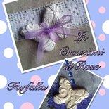 Gessi segnaposto gessetti profumati farfalla matrimonio cresima nascita