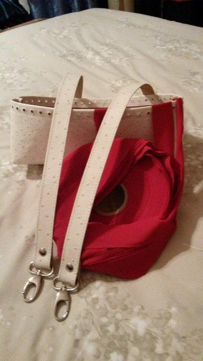 Kit per borse in fettuccia : fondo, manici e fettuccia