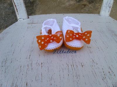 Ballerine estive per bebè (arancione)