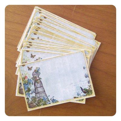 16 cartoncini per prezzi o note - Manichino