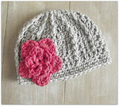 Cappello Neonata Primaverile Realizzato Alluncinettoin Cotone Con