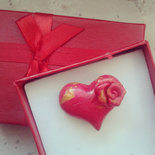 anello amore cuore in fimo