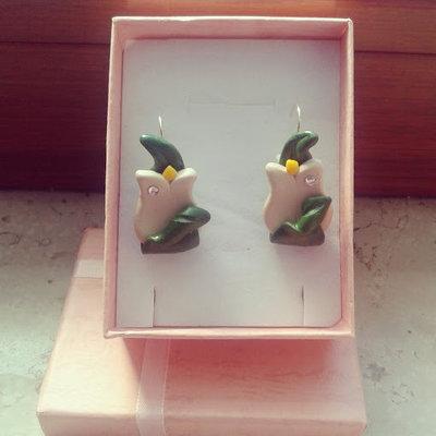 orecchini monachella tulipano in fimo