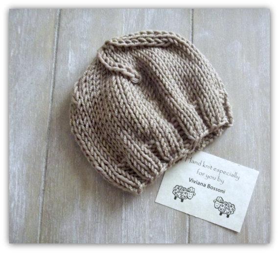 Ben noto Cappello neonato realizzato ai ferri,cuffia neonato e neonata in  EN26
