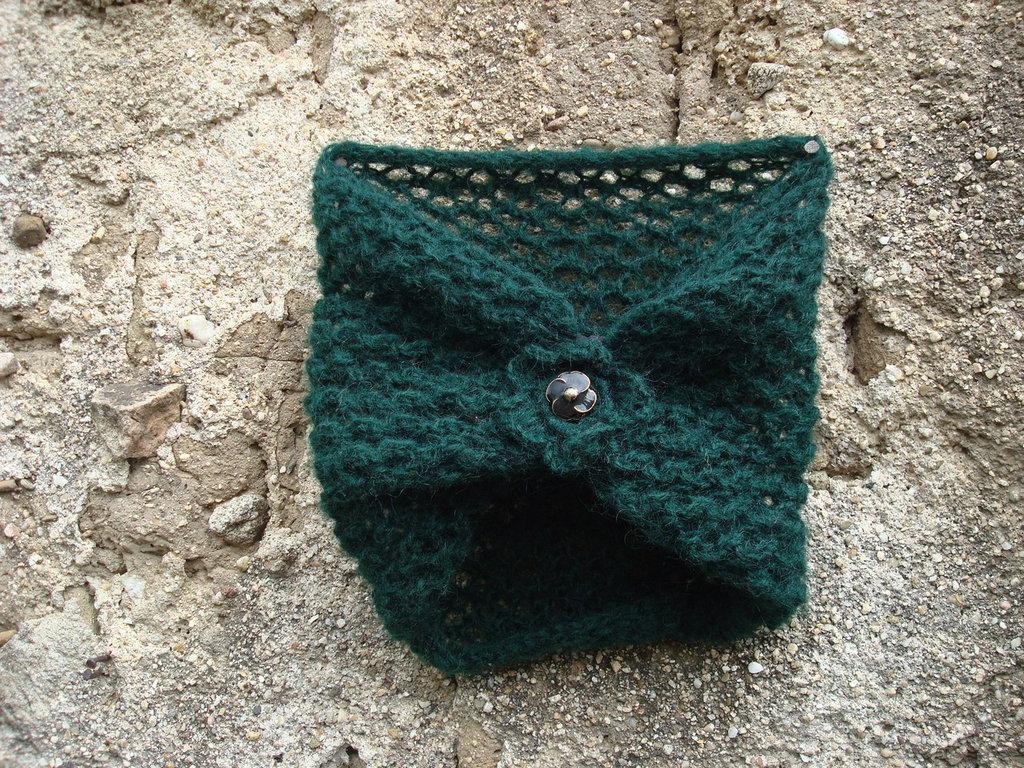 Scaldacollo maglia con applicazione