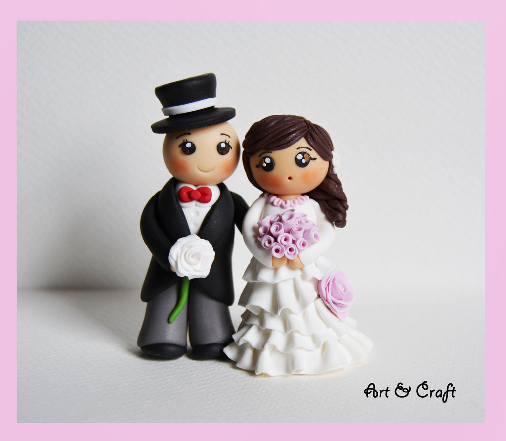Super Coppia di sposi in fimo - Feste - Matrimonio - di Art & Craft | su  NZ49