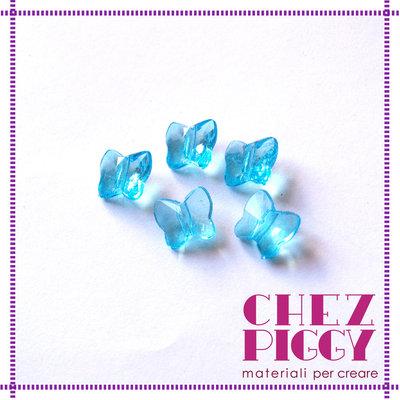 10 x perle a forma di farfalla - AZZURRO