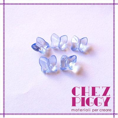10 x perle a forma di farfalla - BLU