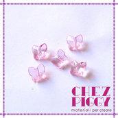 10 x perle a forma di farfalla - ROSA