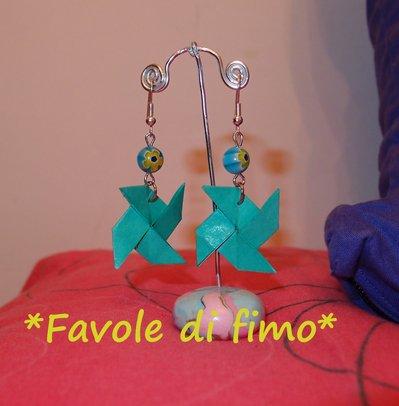 orecchini origami GIRANDOLA