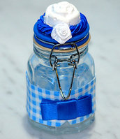 bomboniera vetro con gessetto profumato