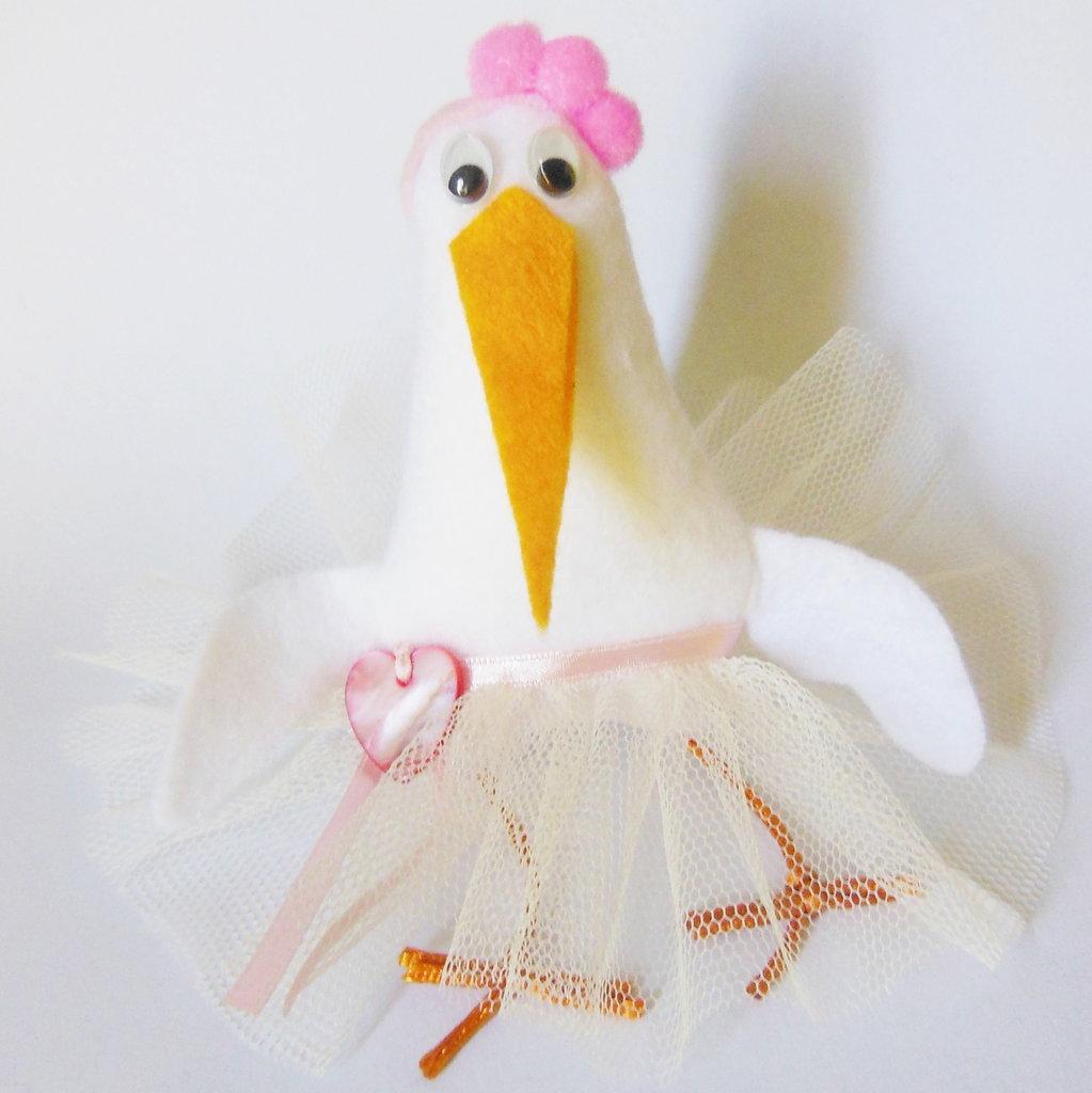 Sofia: per bomboniere con piccole cicogne - ballerine per la vostra piccola principessa!